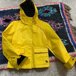 Abercrombie and Fitch Yellow Raincoat